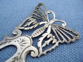 Art Nouveau Hair Comb - Sterling Silver Butterfly Hair Ornament(SOLD)